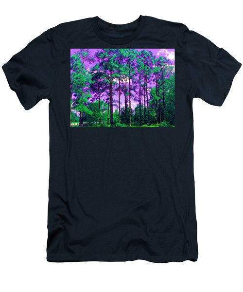 Men's T-Shirt (Slim Fit) featuring the photograph Purple Sky by George Pedro