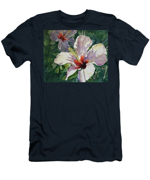 Radiant Light - Hibiscus Men's T-Shirt (Athletic Fit)
