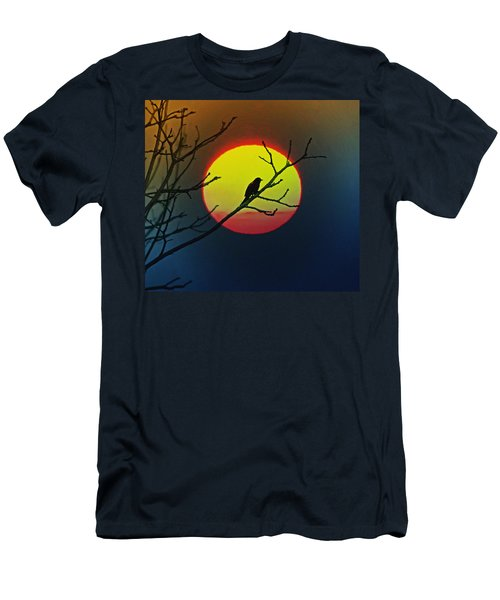 Red Winged Blackbird In The Sun Men's T-Shirt (Athletic Fit)