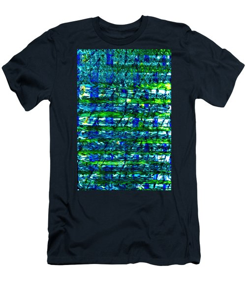 Men's T-Shirt (Slim Fit) featuring the mixed media Rice Harvest by Terence Morrissey