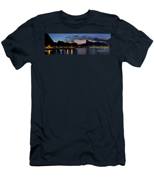 Rio Skyline From Urca Men's T-Shirt (Athletic Fit)
