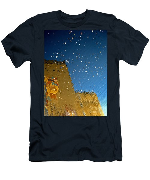 Men's T-Shirt (Slim Fit) featuring the photograph River Crossing Border Crossing by Andy Prendy