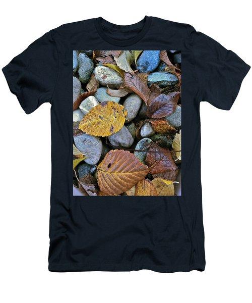 Rocks And Leaves Men's T-Shirt (Slim Fit) by Bill Owen