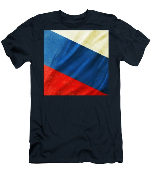 Russia Flag Men's T-Shirt (Athletic Fit)