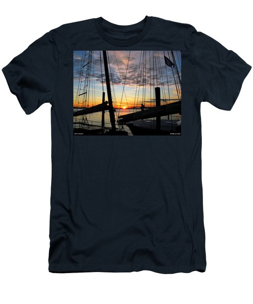 Sail At Sunset Men's T-Shirt (Athletic Fit)