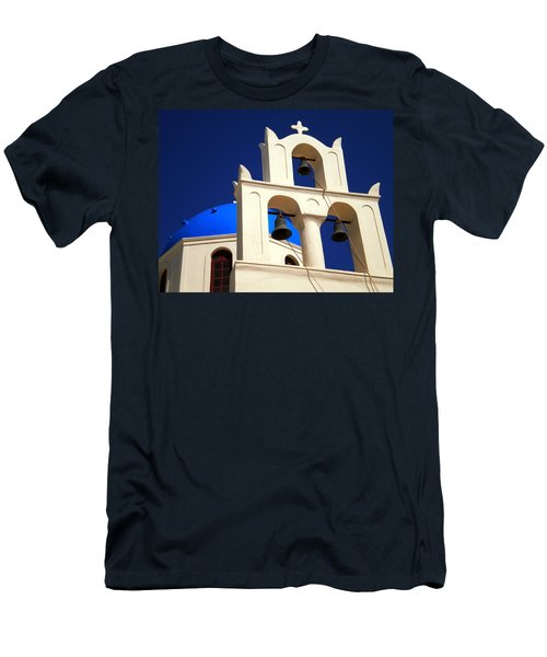 Men's T-Shirt (Slim Fit) featuring the photograph santorini Church Greee by Colette V Hera  Guggenheim