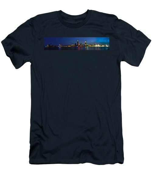 Shanghai Bund Panorama - Night Men's T-Shirt (Athletic Fit)