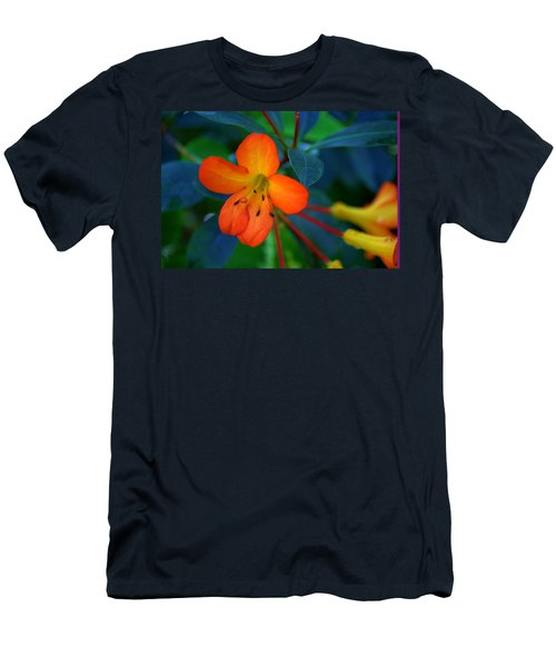 Men's T-Shirt (Slim Fit) featuring the photograph Small Orange Flower by Tikvah's Hope