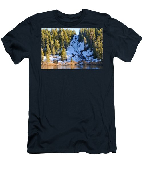 Snowy Heart Falls Men's T-Shirt (Slim Fit) by Lynn Bauer
