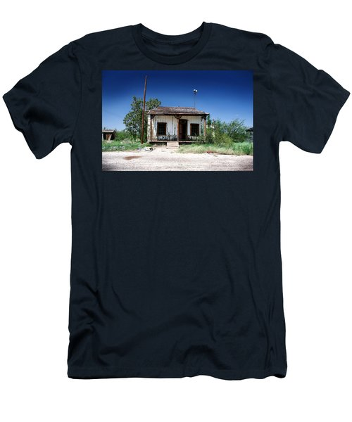 Men's T-Shirt (Slim Fit) featuring the photograph Somewhere On The Old Pecos Highway Number 3 by Lon Casler Bixby