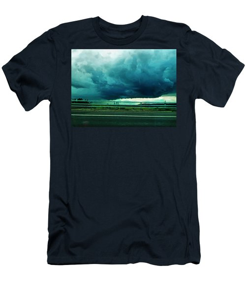 Men's T-Shirt (Slim Fit) featuring the digital art Storm Approaching  by Steve Taylor