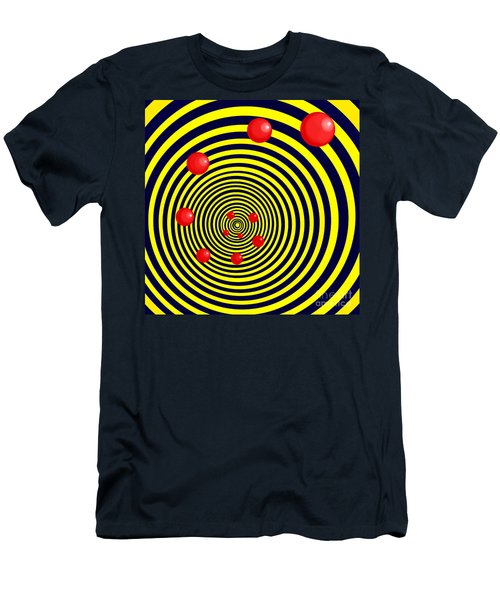 Summer Red Balls With Yellow Spiral Men's T-Shirt (Athletic Fit)
