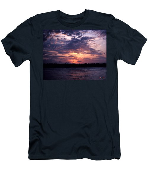 Men's T-Shirt (Slim Fit) featuring the photograph Sunset Off Mallory Square 14s by Gerry Gantt