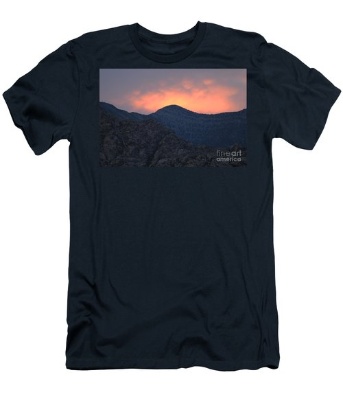 Men's T-Shirt (Slim Fit) featuring the photograph Sunset Over Red Rock by Art Whitton