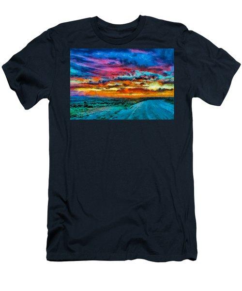 Taos Sunset Iv Wc Men's T-Shirt (Athletic Fit)