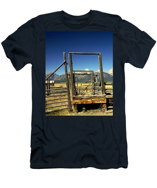 Men's T-Shirt (Slim Fit) featuring the photograph Teton Ranch by Marty Koch