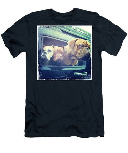 The Dog Taxi Is A Hummer Men's T-Shirt (Athletic Fit)