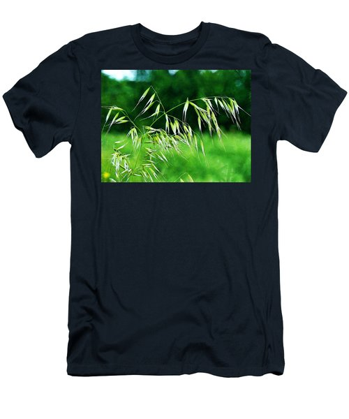 Men's T-Shirt (Slim Fit) featuring the photograph The Grass Seeds by Steve Taylor
