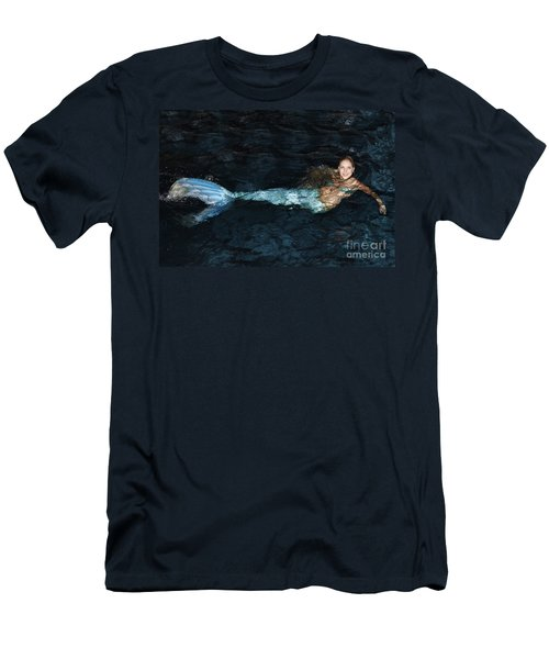 There Is A Mermaid In The Pool Men's T-Shirt (Athletic Fit)