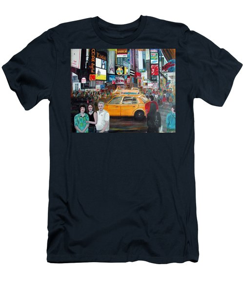 Times Square Men's T-Shirt (Slim Fit) by Anna Ruzsan