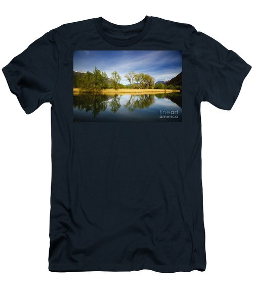 Trees Reflections On The Lake Men's T-Shirt (Athletic Fit)