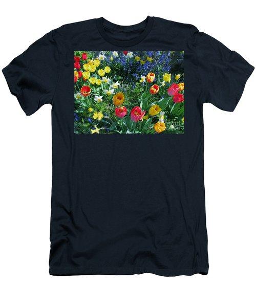 Tulips Dancing Men's T-Shirt (Slim Fit) by Rory Sagner