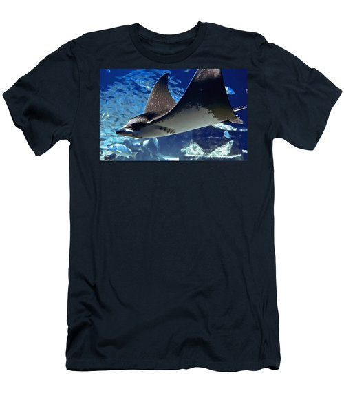 Underwater Flight Men's T-Shirt (Slim Fit) by DigiArt Diaries by Vicky B Fuller