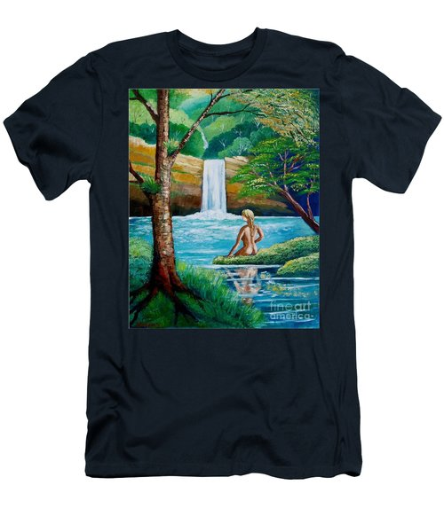 Waterfall Nymph Men's T-Shirt (Athletic Fit)