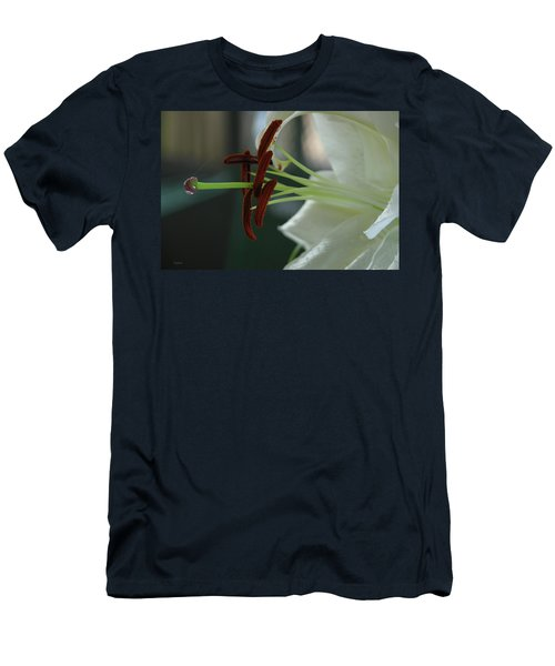 White Tiger Lily II Men's T-Shirt (Athletic Fit)