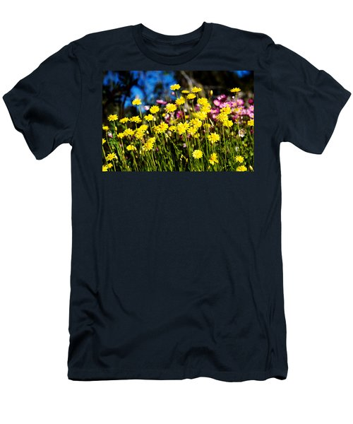 Men's T-Shirt (Slim Fit) featuring the photograph Yellow Flowers by Yew Kwang