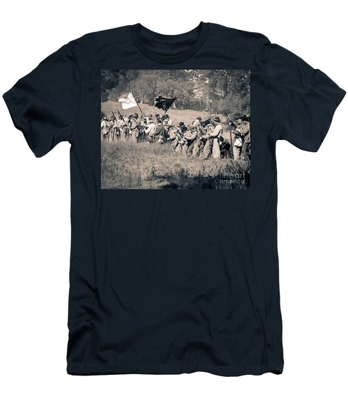 Gettysburg Confederate Infantry 9281s Men's T-Shirt (Athletic Fit)