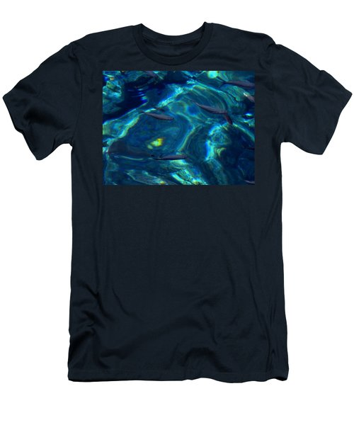 Men's T-Shirt (Slim Fit) featuring the photograph  Santorini  Ocean Water Reflections Greece by Colette V Hera  Guggenheim