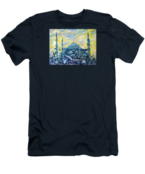 Turkey. Blue Mosque Men's T-Shirt (Athletic Fit)