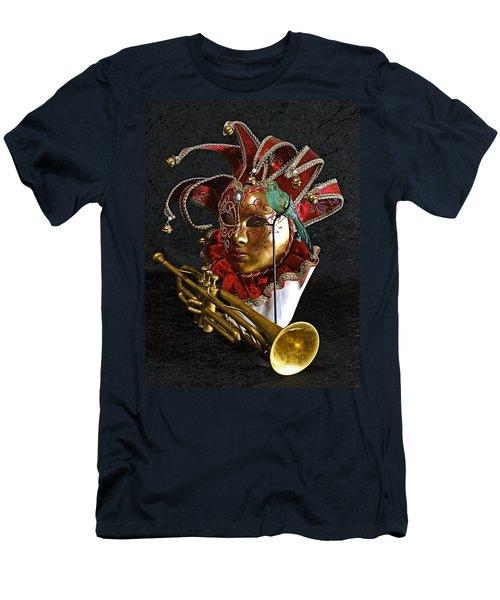 Venitian Joker Men's T-Shirt (Slim Fit) by Elf Evans