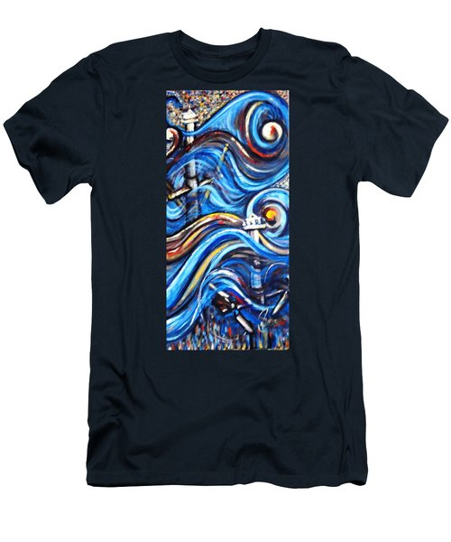 Men's T-Shirt (Slim Fit) featuring the painting A Ray Of Hope 4 by Harsh Malik