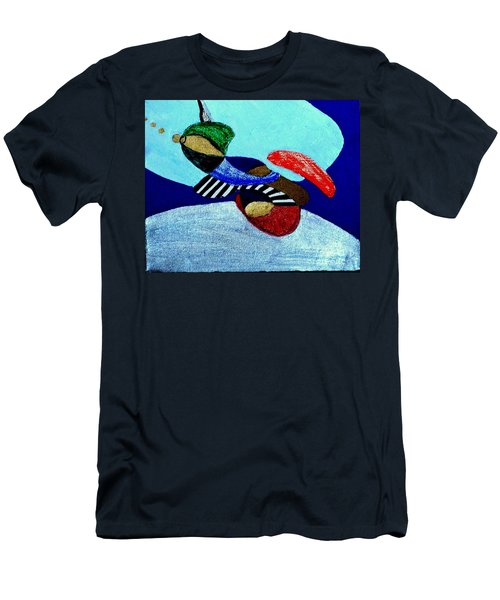 Men's T-Shirt (Athletic Fit) featuring the painting Abstract Silver by Rod Ismay