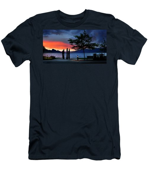 Men's T-Shirt (Athletic Fit) featuring the photograph A Sunset Story by John Poon