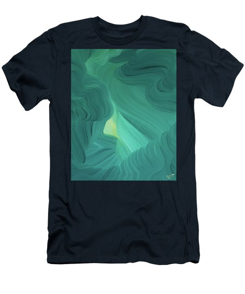 Aquamarine Vista Men's T-Shirt (Athletic Fit)