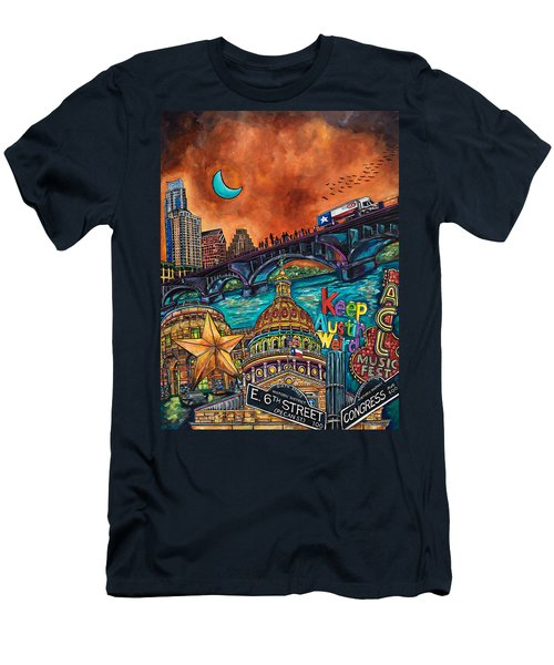 Austin Montage Men's T-Shirt (Slim Fit) by Patti Schermerhorn