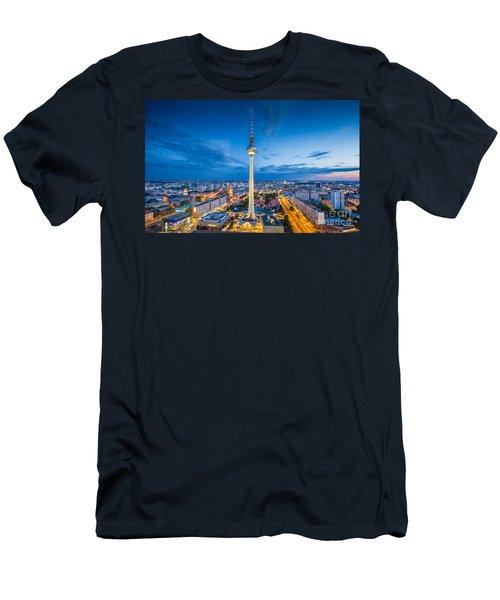 Berlin City Lights Men's T-Shirt (Athletic Fit)