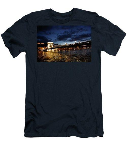Blue Danube Sunset Budapest Men's T-Shirt (Athletic Fit)