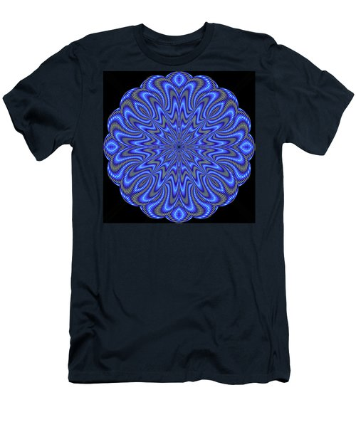 Blue Fire Men's T-Shirt (Athletic Fit)