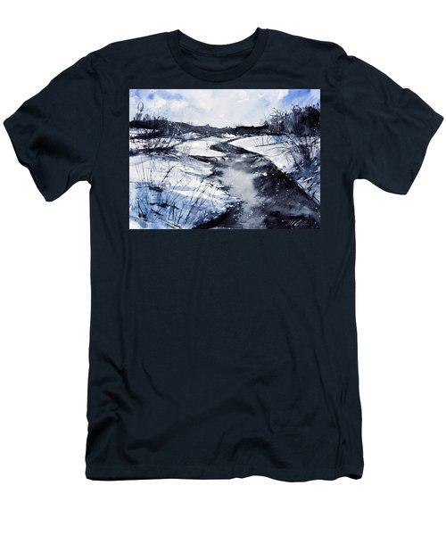 Blue Men's T-Shirt (Slim Fit) by Judith Levins
