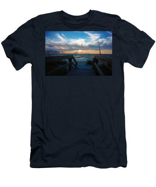 Boardwalk At Delnor-wiggins Pass State Park Men's T-Shirt (Athletic Fit)