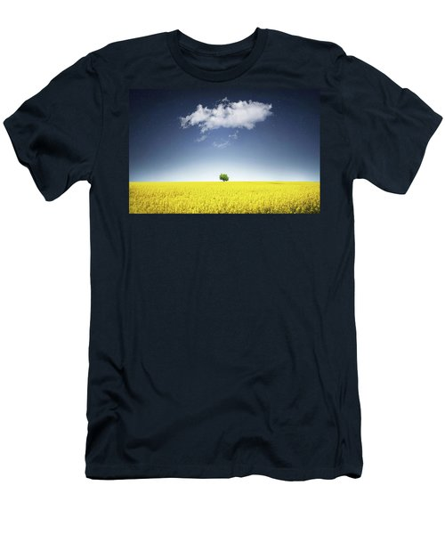 Men's T-Shirt (Slim Fit) featuring the photograph Canola Field by Bess Hamiti