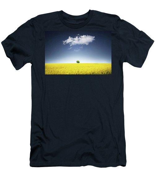 Canola Field Men's T-Shirt (Slim Fit) by Bess Hamiti