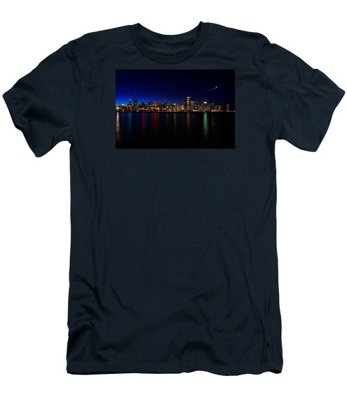 Chicago-skyline 3 Men's T-Shirt (Slim Fit) by Richard Zentner