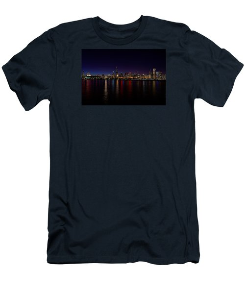 Chicago-skyline Men's T-Shirt (Athletic Fit)