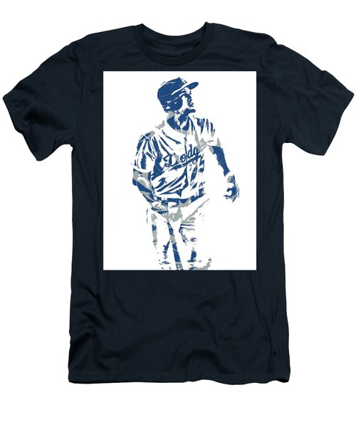 Corey Seager Los Angeles Dodgers Pixel Art 10 Men's T-Shirt (Athletic Fit)