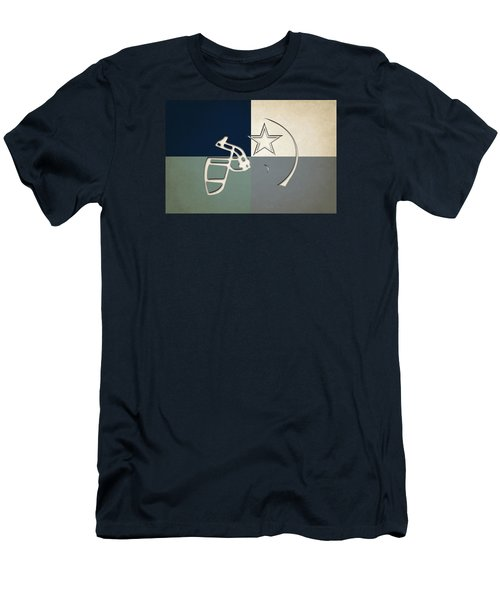 Dallas Cowboys Helmet Men's T-Shirt (Athletic Fit)